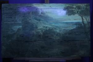 Öl-Harzbild auf Holztafel